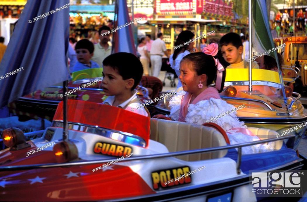 Stock Photo: Feria of Jerez de la Frontera, girl crying.