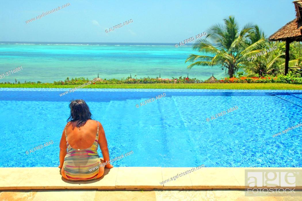 Stock Photo: swimming pool, Unguja island, Zawadi hotel, Zanzibar.