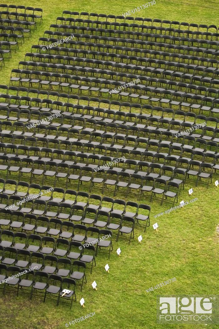 Stock Photo: Arrangement, Chairs, Bleachers, Array, Arena.