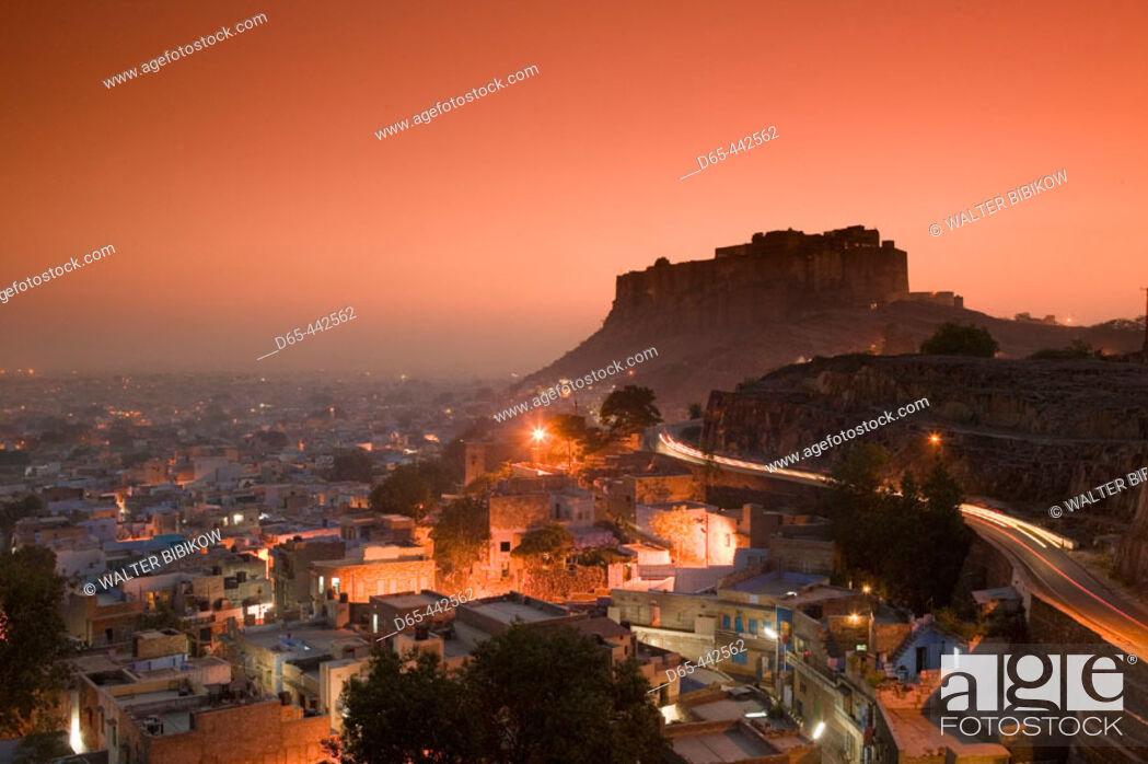 Stock Photo: Meherangarh Fort. Evening. Jodhpur. Rajasthan. India.