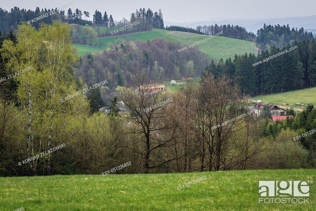 Stock Photo: Jasenna village in Zlin Region, Moravia in Czech Republic.