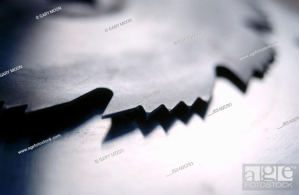 Stock Photo: Circular saw blade.