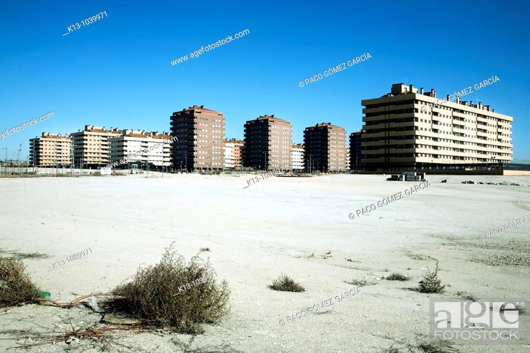 Stock Photo: Residencial Francisco Hernando 'El Pocero'  Seseña  Toledo Castilla La Mancha  España.