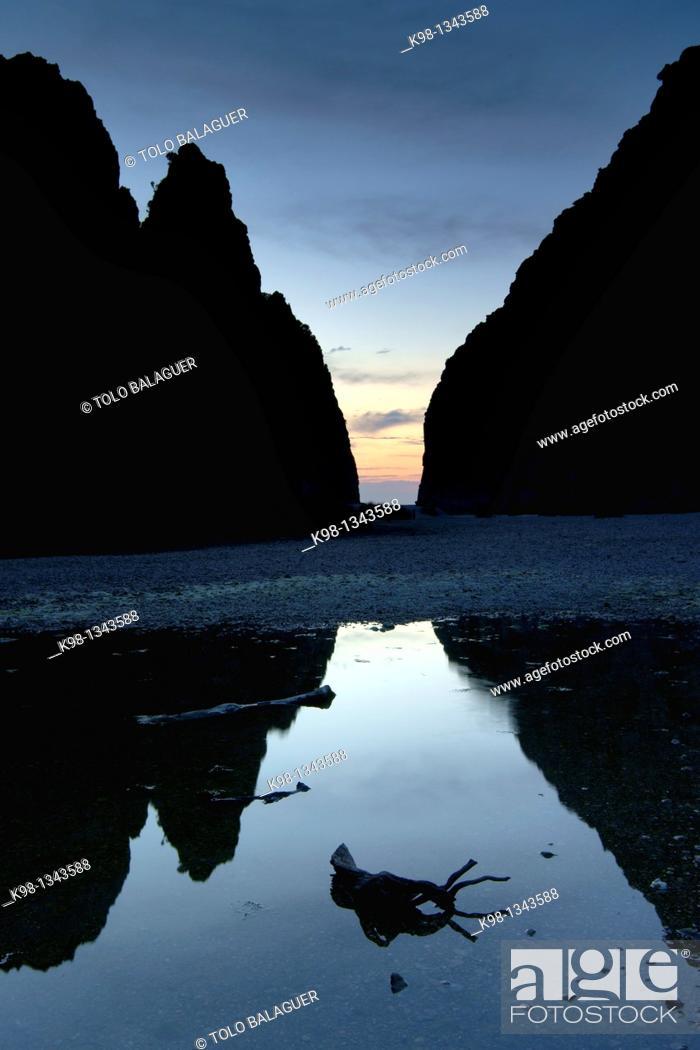 Stock Photo: Torrent de Pareis, Sa Calobra Escorca Mallorca Balearic Islands Spain.