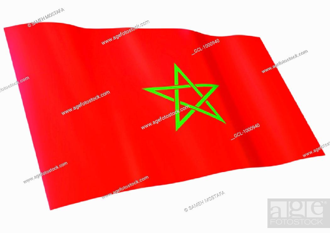 Stock Photo: flag of Morocco.