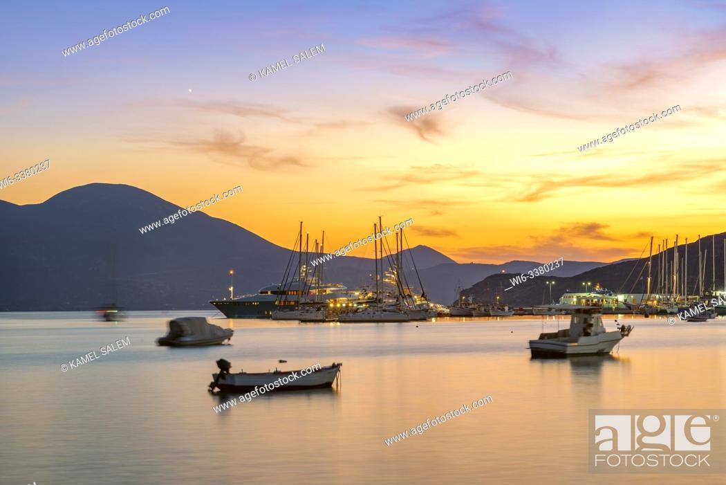 Stock Photo: The bay of Adamas, Milos island, Cyclades, Greece.