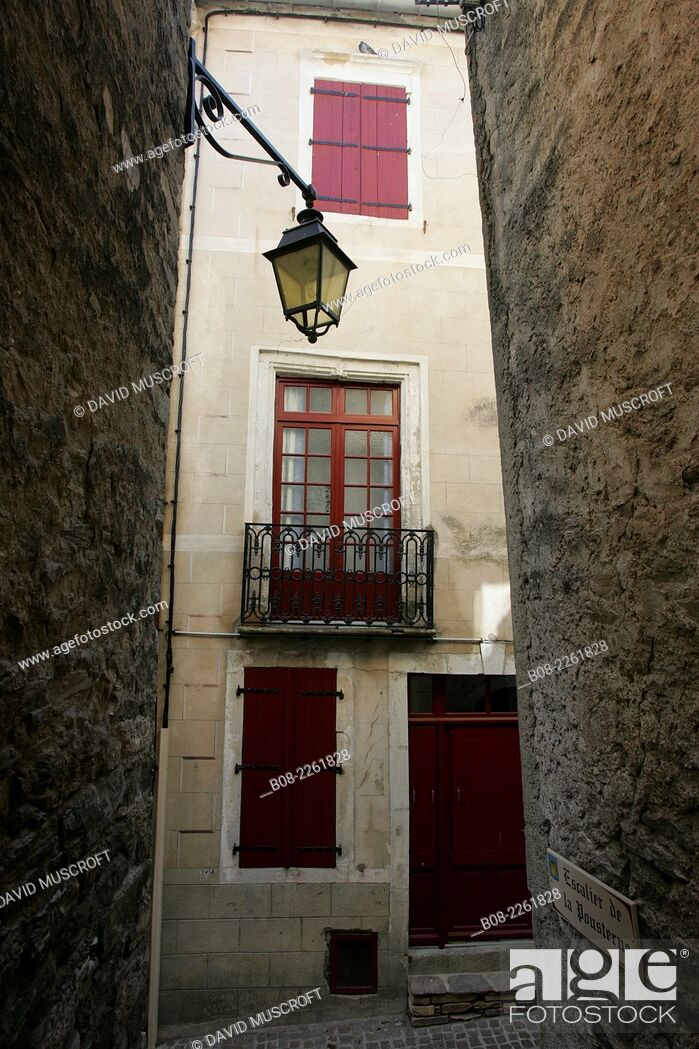 Stock Photo: the village of Olargues, Languedoc, southern France.