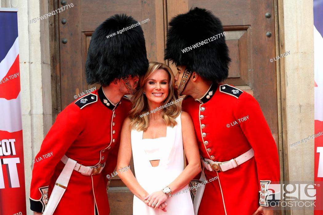 Stock Photo: Britain's Got Talent - press launch held at St Luke's Church - Arrivals Featuring: Amanda Holden Where: London, United Kingdom When: 09 Apr 2013 Credit: Lia.