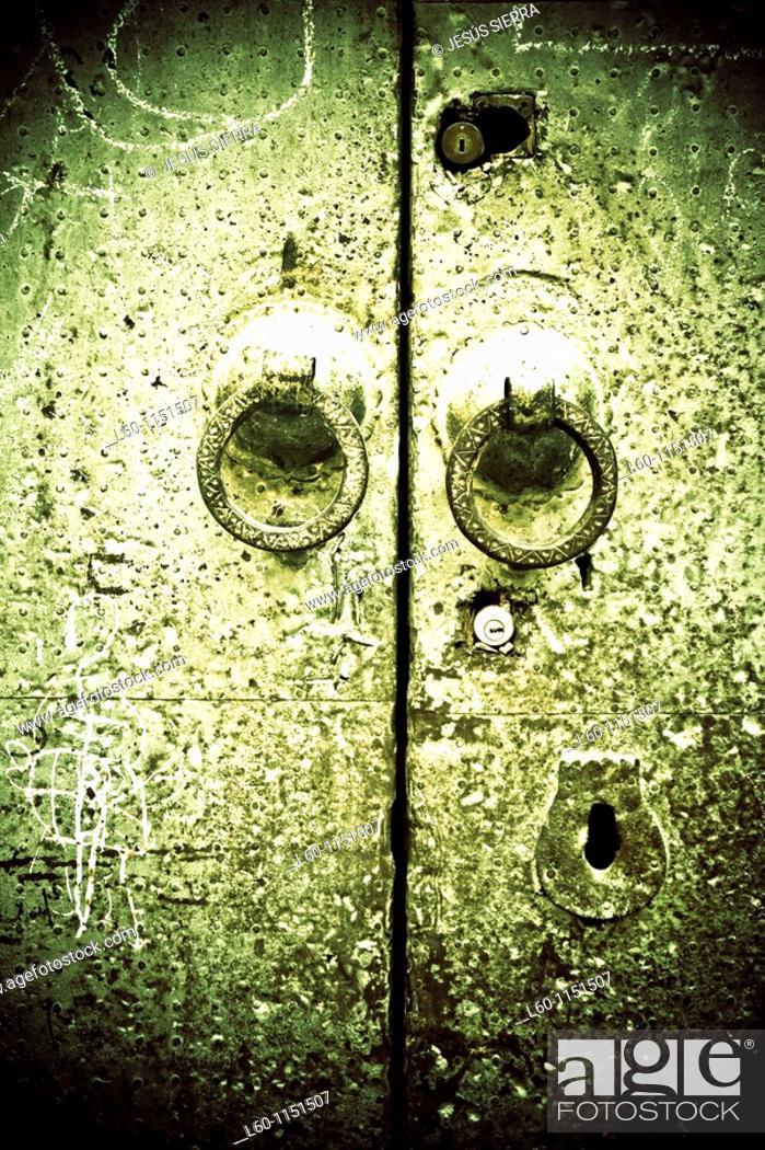 Stock Photo: Door in Morocco.