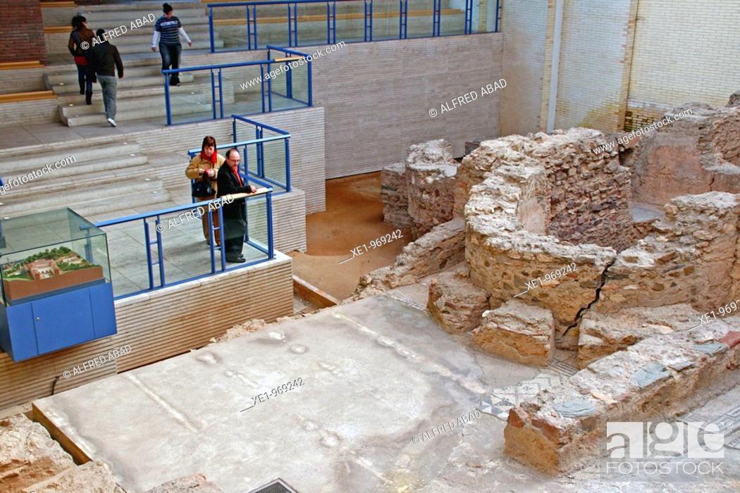 Photo de stock: Roman Baths, s.II, Sant Boi del Llobregat's museum, Catalonia, Spain.