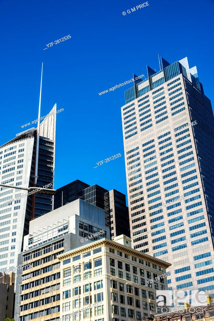Stock Photo: Sydney corporate high rise along Macquarie Street.