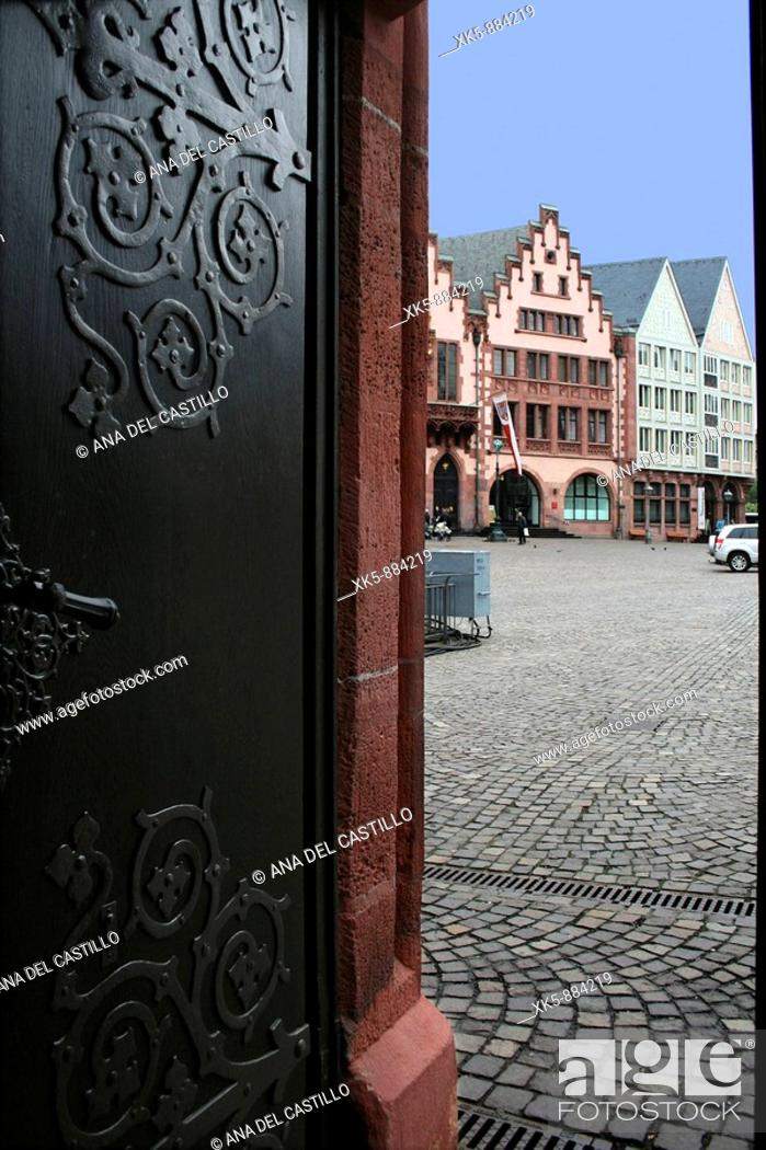 Stock Photo: Frankfurt center, town hall.