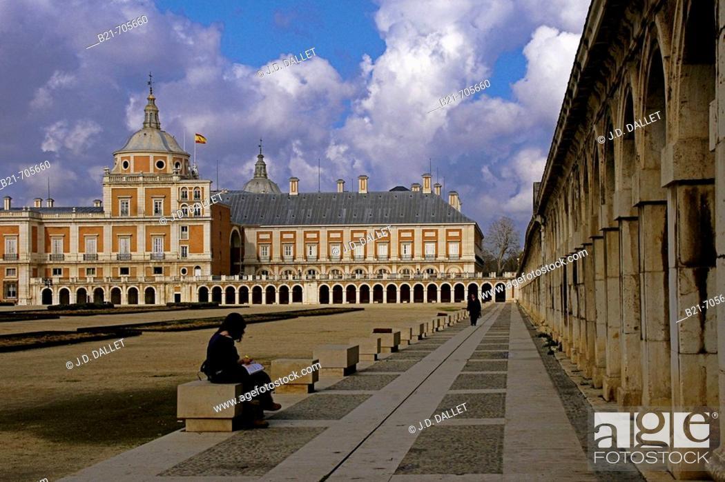 Stock Photo: Spain-Madrid-  Royal Palace of Aranjuez.