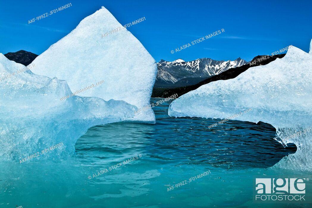 Stock Photo: Close up of an iceberg from McBride Glacier in Muir Inlet, Glacier Bay National Park & Preserve, Southeast Alaska, Summer.