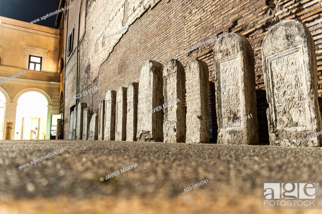 Stock Photo: Baths of Diocletian, Rome, Italy.