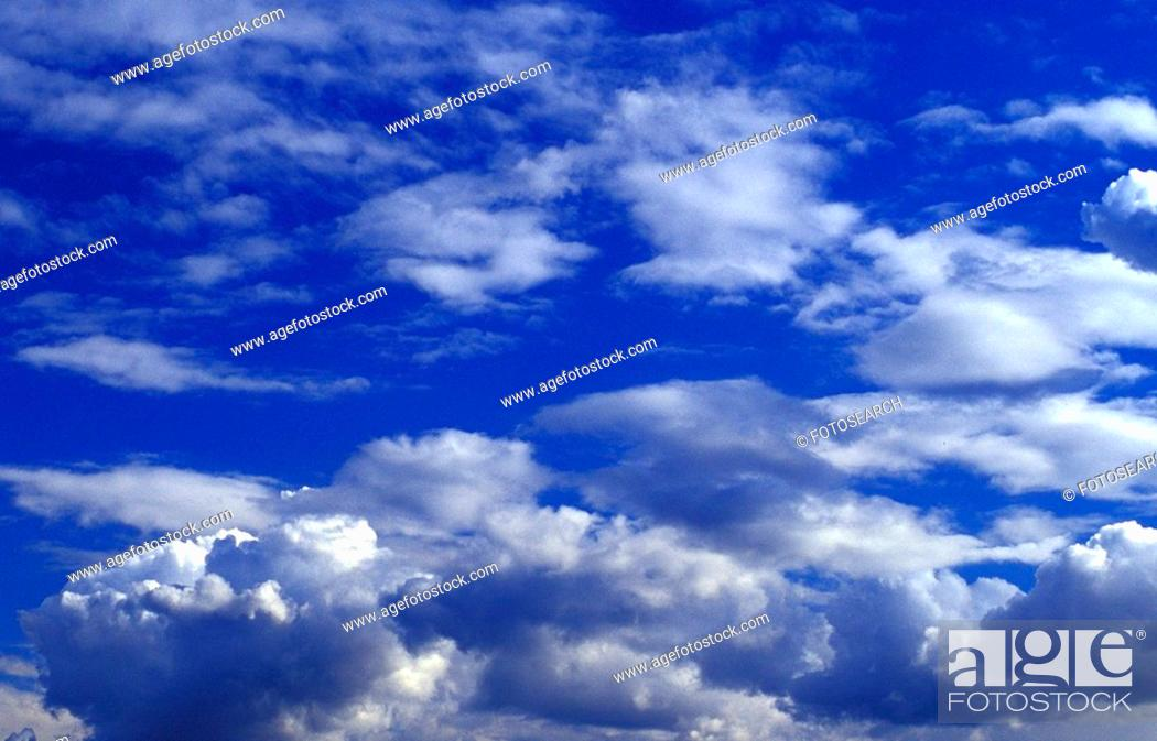 Stock Photo: background, bad, blue, cloud, clouded, clouds, cloudy.