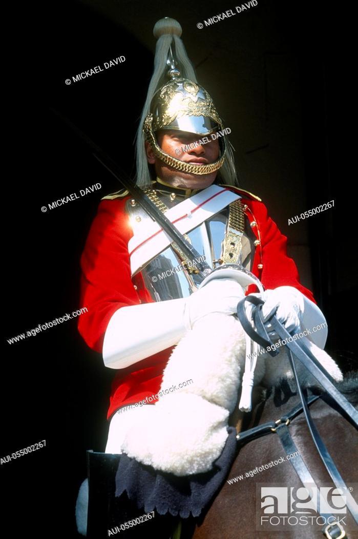 Stock Photo: England - London - Whitehall - Horse Guards.
