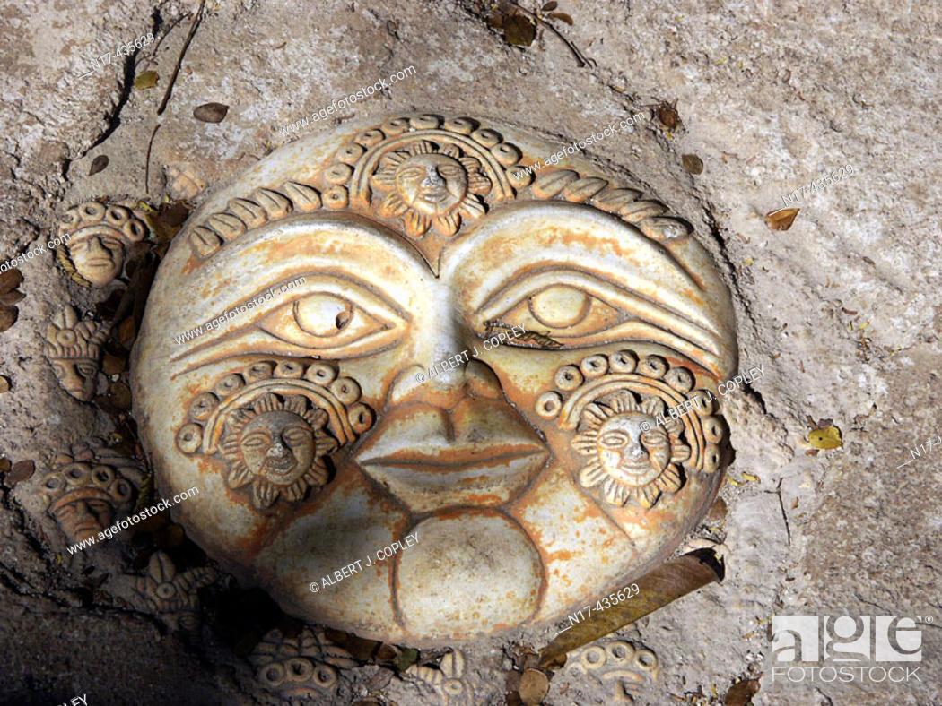 Stock Photo: Maya glyph from Yucatan Peninsula, Mexico.
