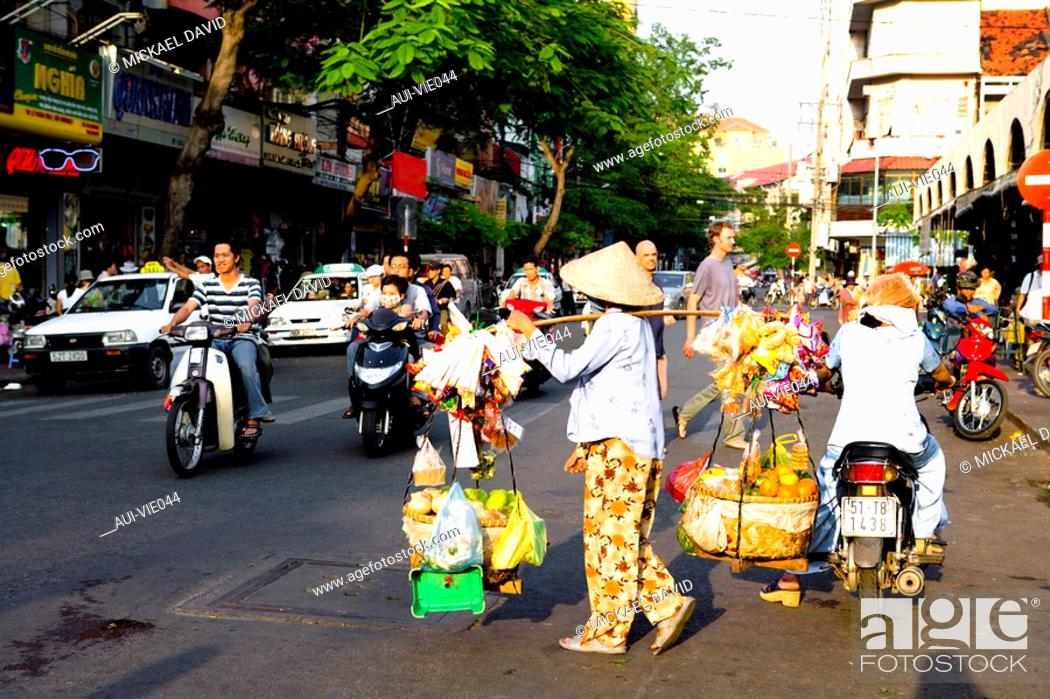 Stock Photo: Vietnam - Ho Chi Minh-City Sa'gon - Ben Thanh Market.