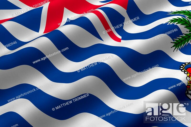 Stock Photo: British Indian Ocean Territory Flag.