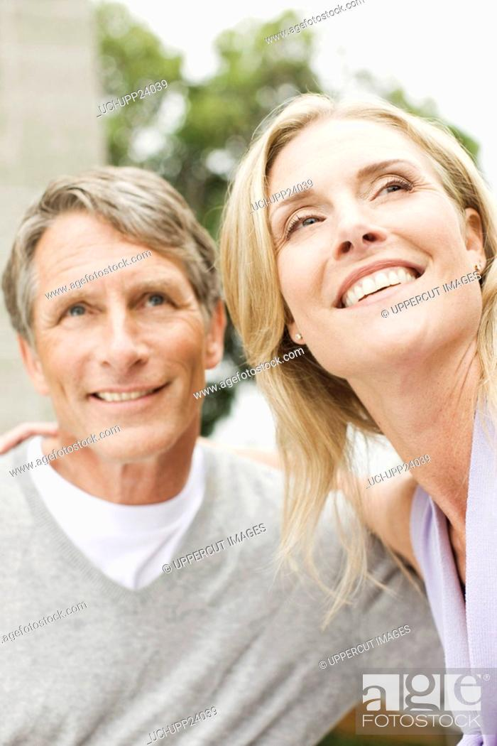 Stock Photo: Close up of smiling couple.