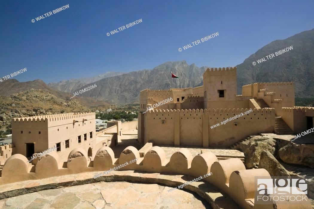 Stock Photo: Oman, The Batinah Plain, Nakhal Fort.