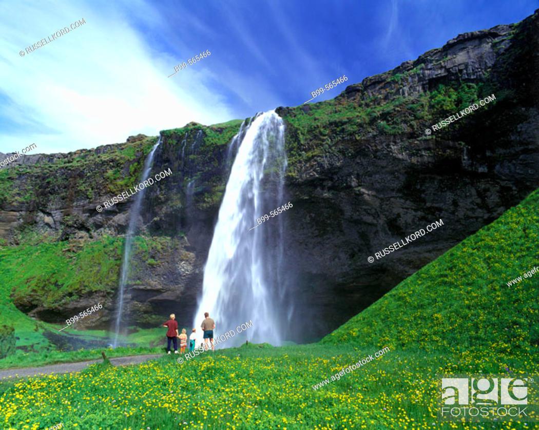 Stock Photo: Seljalandsfoss Waterfall, Iceland.