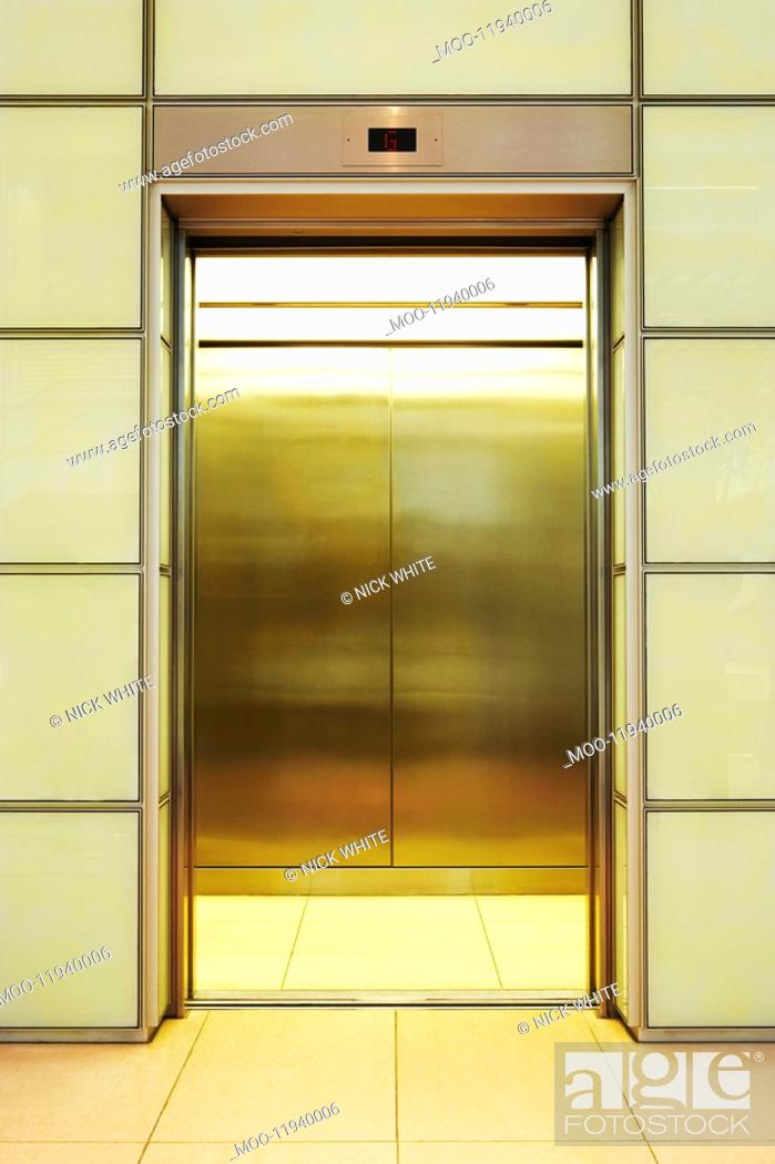 Stock Photo: Empty open Elevator.