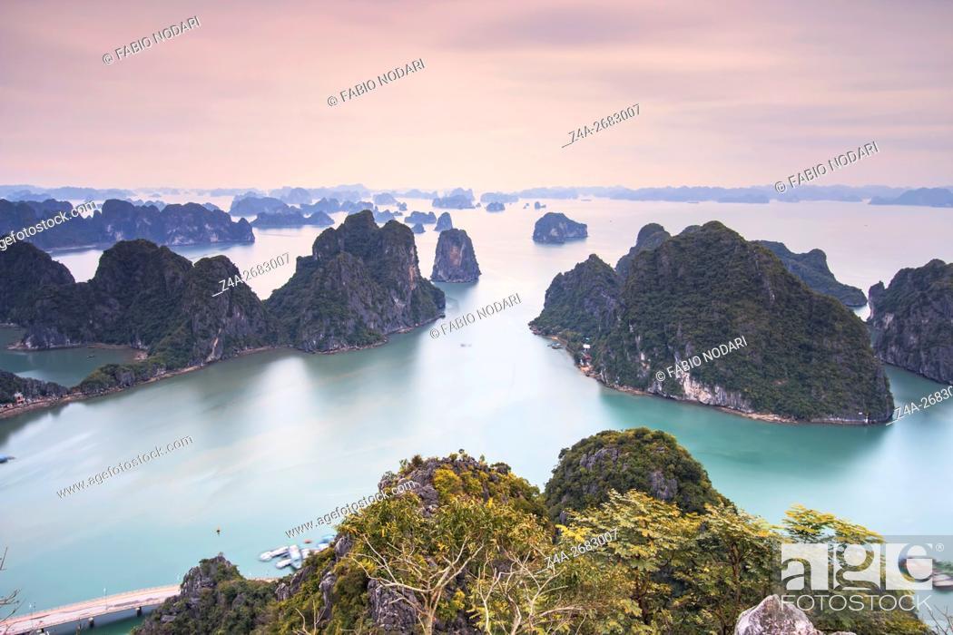 Stock Photo: Panoramic view of Halong Bay, Vietnam.