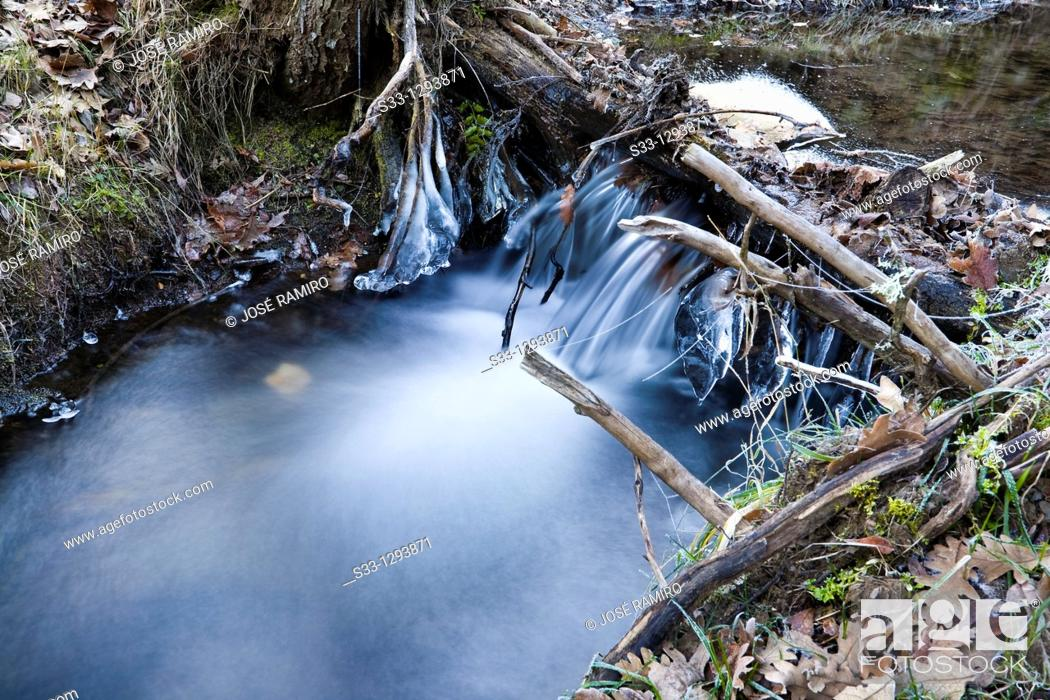 Stock Photo: The Fuentecilla stream in La Hiruela Madrid Spain.
