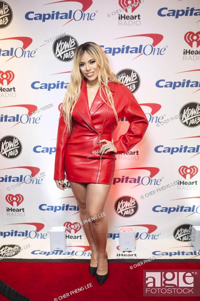 Imagen: Dinah Jane backstage on the red carpet at the Xcel Energy Center in Saint Paul, Minnesota.