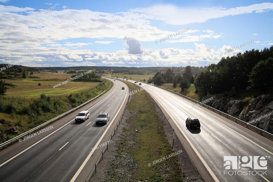 Stock Photo: E4 Road Trosa Sweden.