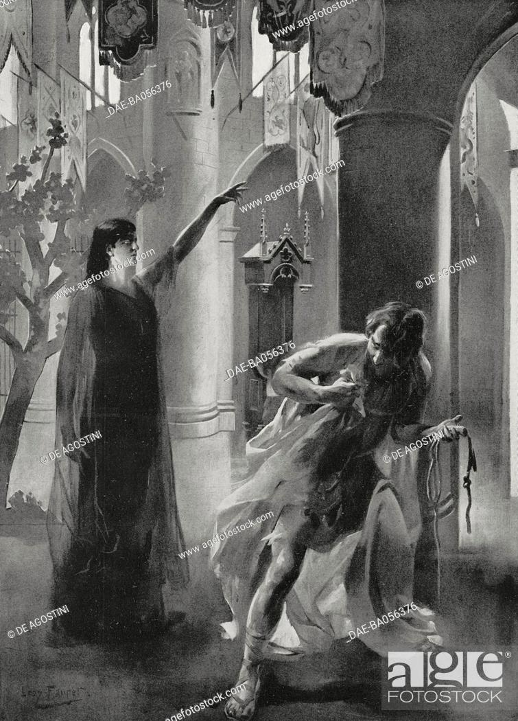 Desesperance and Judas, scene from Le Vray Mistere de la