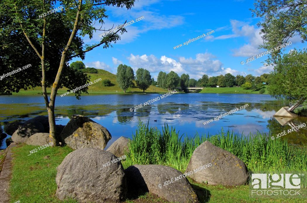 Stock Photo: Munich, Olympiapark, Olympia Park, Olympic Park, Bavaria, Germany, Europe.