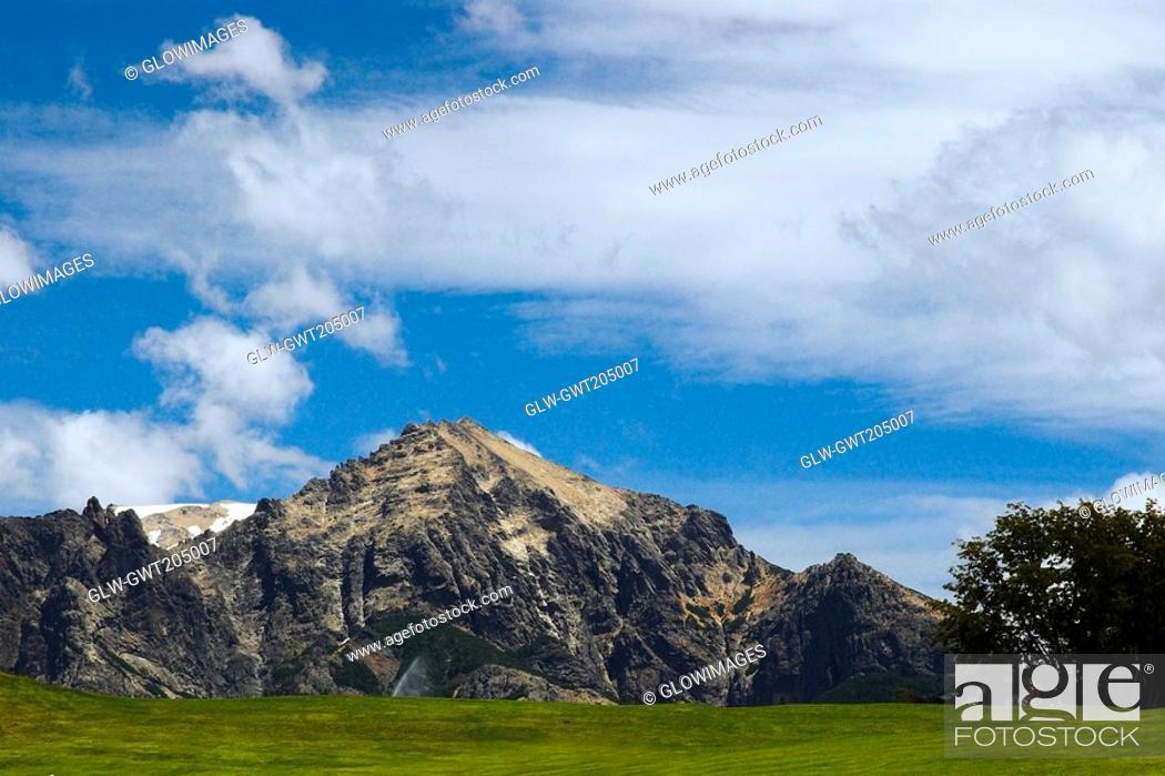 Stock Photo: Panoramic view of a mountain, San Carlos De Bariloche, Argentina.