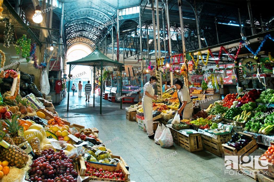 Stock Photo: fruits Market, San Telmo District, Buenos Aires, Argentina.