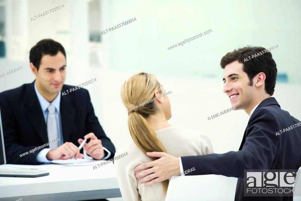 Stock Photo: Successful business meeting between professional and clients.