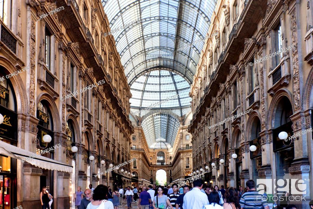 Stock Photo: Vittorio Emanueel Gallery, Italy.