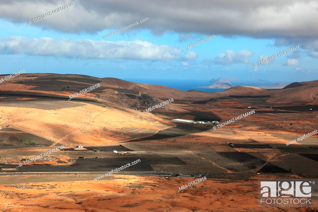 Stock Photo: Scenery with Teguise, Lanzarote, Canary islands, Spain.