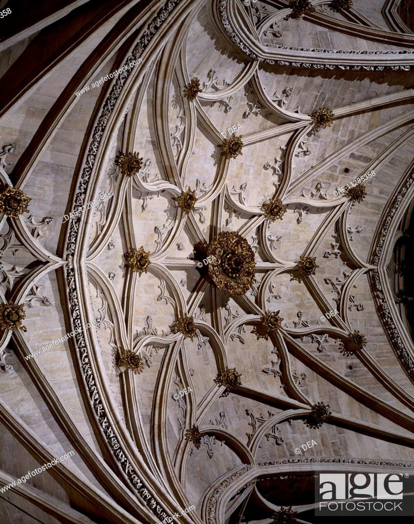Stock Photo: Gothic vault in the royal chapel, Cathedral of Granada. Spain, 17th century.