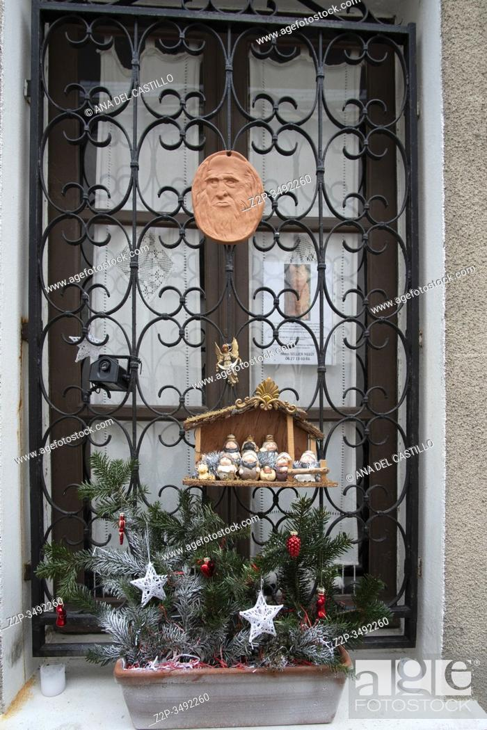 Stock Photo: AMBOISE LOIRE VALLEY FRANCE ON DECEMBER 31, 2019: Christmas decoration in house.