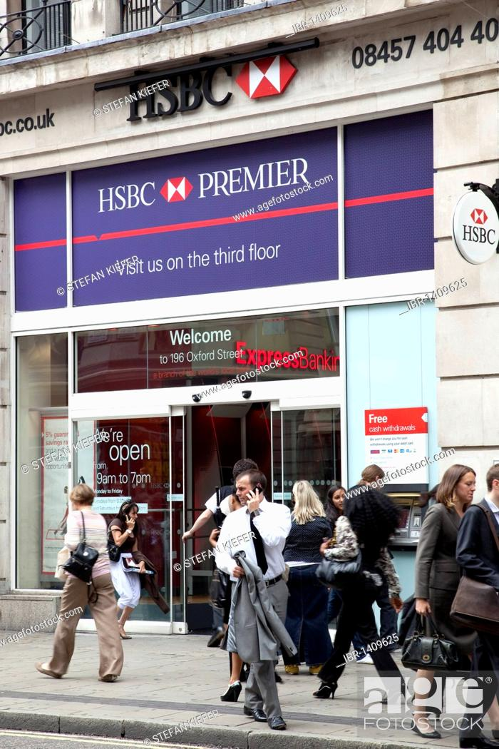 Subsidiary of the HSBC bank on Oxford Street in London, England