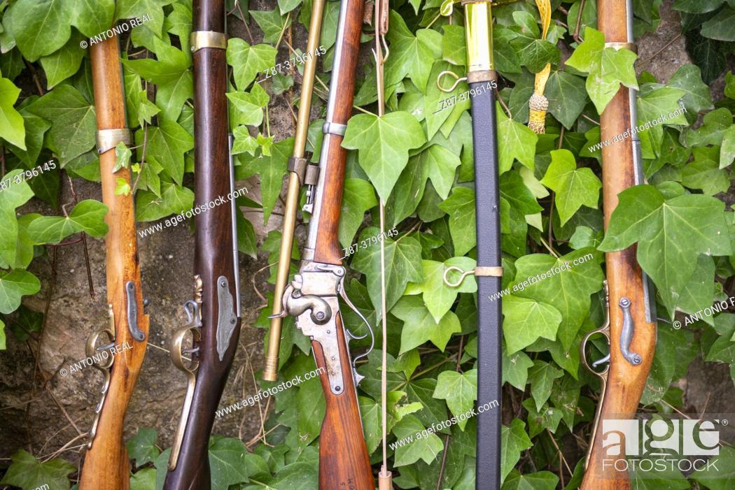 Photo de stock: 18th century muskets. Almansa, Albacete.