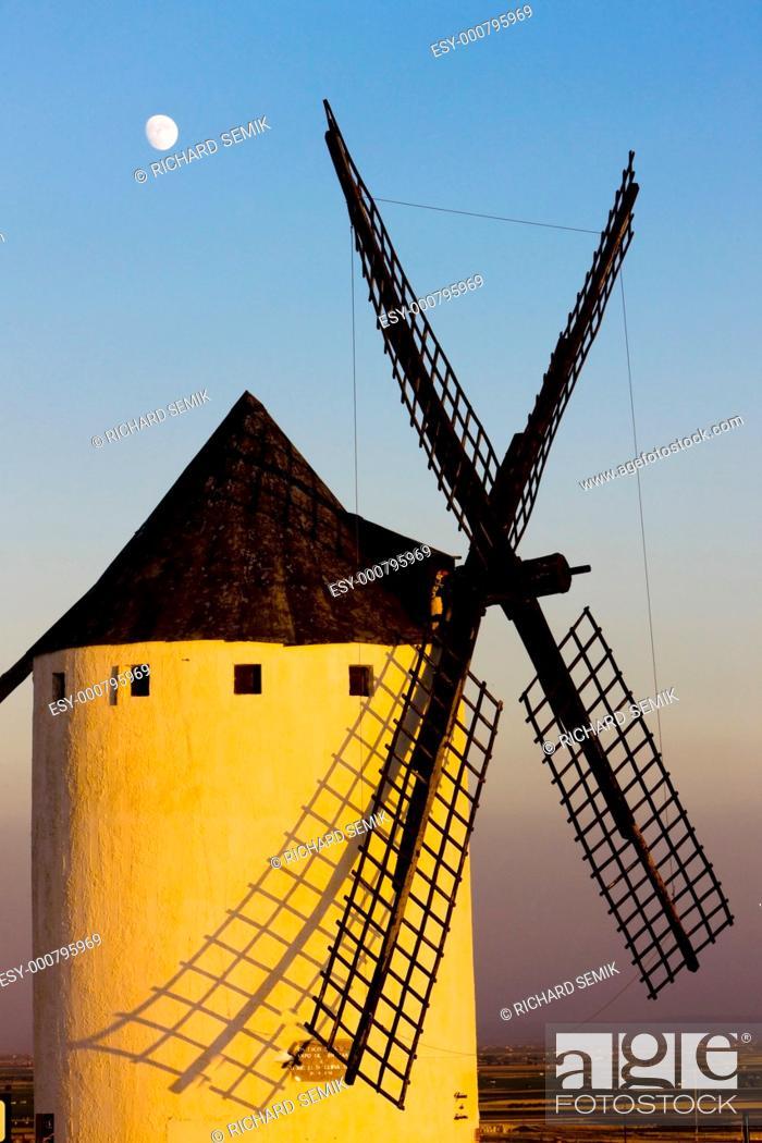 Stock Photo: windmill, Campo de Criptana, Castile-La Mancha, Spain.