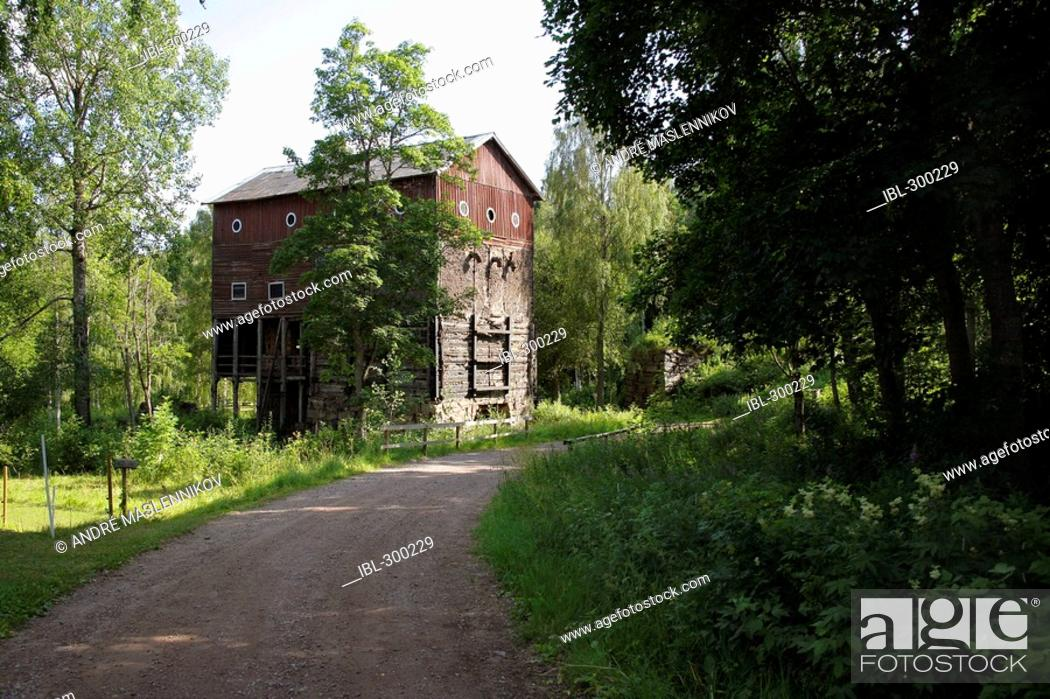Stock Photo: Blast-furnace in Norns Works.