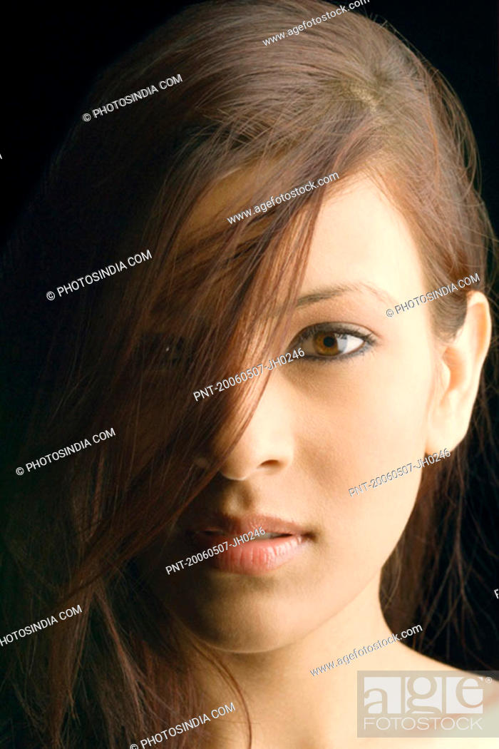 Stock Photo: Portrait of a young woman.