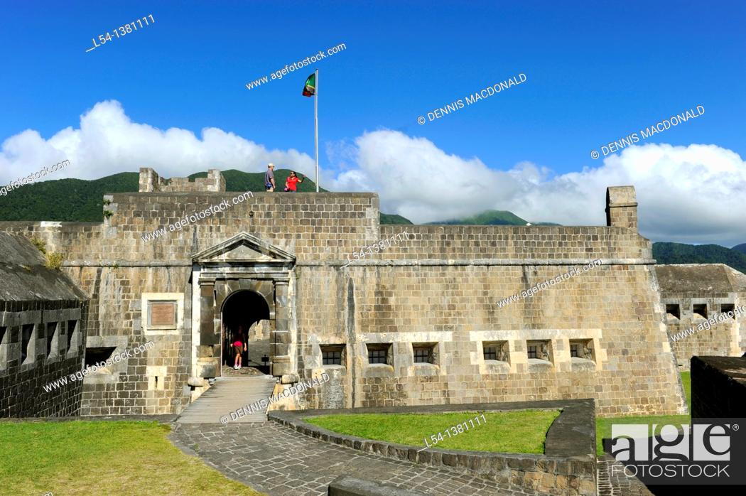 Stock Photo: Brimstone Hll Fortress National Park Basseterre St  Kitts Caribbean, Island Cruise NCL.