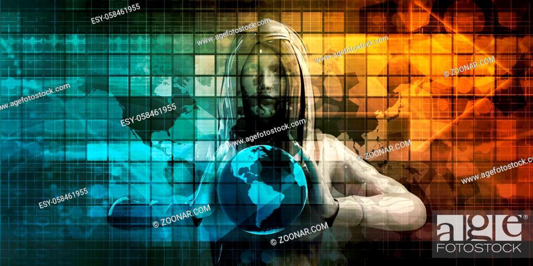 Stock Photo: Logistics Technology Concept as a Company Worldwide.