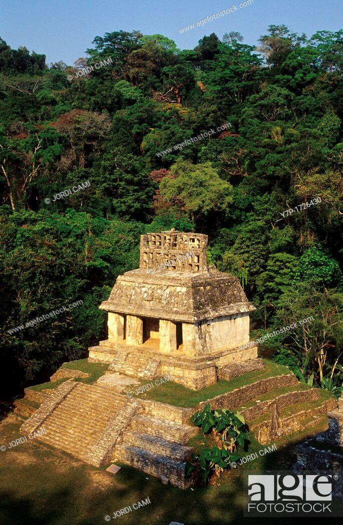 Stock Photo: Temple of the Sun, Palenque, Chiapas, Mexico.