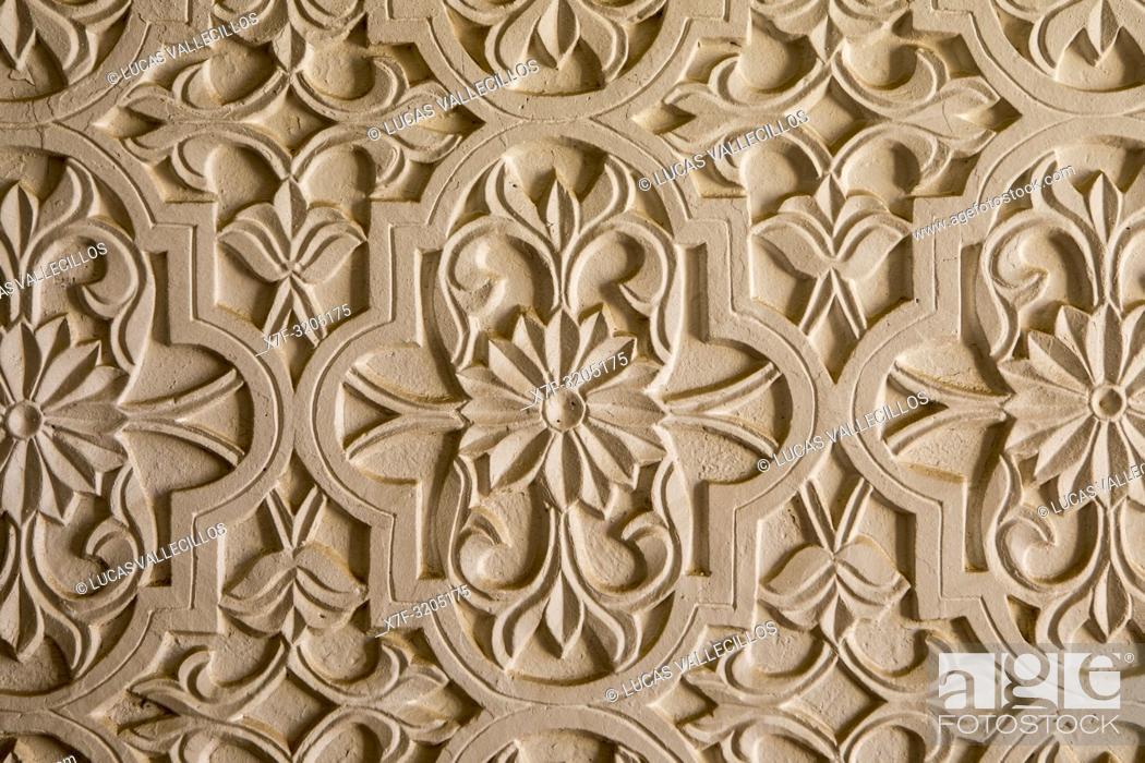 Imagen: Detail, wall, Ornamentation of Kuhna Ark, Khiva, Uzbekistan.